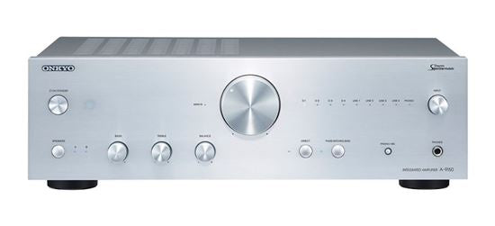 ONKYO A9150S Integrated Stereo Amplifier. High current power supply. Refined power amplification circuit with discrete Spectra Module. Hi-grade DAC & DIDRC filter. Robust flat chassis. Colour Silver