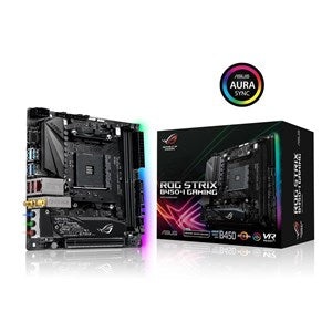 ASUS ROG STRIX B450-I GAMING AMD B450 AM4 MINI-ITX 2XDDR4-3600 PCI-E3.0 SATA3 M.2 RAID HDMI