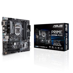 ASUS PRIME H370M-PLUS INTEL COFFEE LAKE SOCKET 1151 4XDDR4-2666 PCI-E3.0 USB3.1 SATA3 M.2 RAID HDMI/DVI-D/VGA