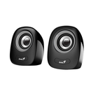 Genius SP-Q160 Black USB Powered Mini Speakers - Black/Grey