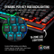 CORSAIR K95 RGB PLATINUM XT MECHANICAL RGB GAMING KEYBOARD CHERRY MX RGB BLUE - BLACK