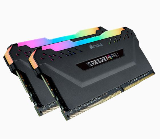 CORSAIR CMW32GX4M2A2666C16 DDR4, 2666MHZ 32GB 2 X 288 DIMM, UNBUFFERED, 16-18-18-35, VENGEANCE RGB PRO BLACK HEAT SPREADER,RGB LED, 1.35V, XMP 2.0