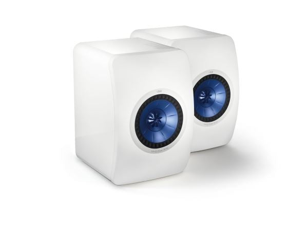 KEF LS50 Innovative Professional Studio Monitor Speakers. Colour White. SOLD AS PAIR