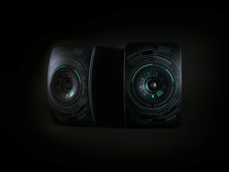 KEF LS50 Wireless Professional Studio Monitor Speakers. Colour 'Nocturne' by Marcel Wanders. SOLD AS A PAIR