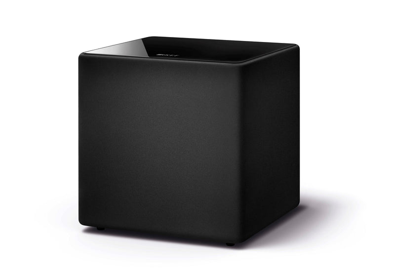KEF 12'' 300W Subwoofer. 1x 300mm driver. 22~140Hz. 114dB. RCA phono sockets. Speaker level inputs. Colour Black