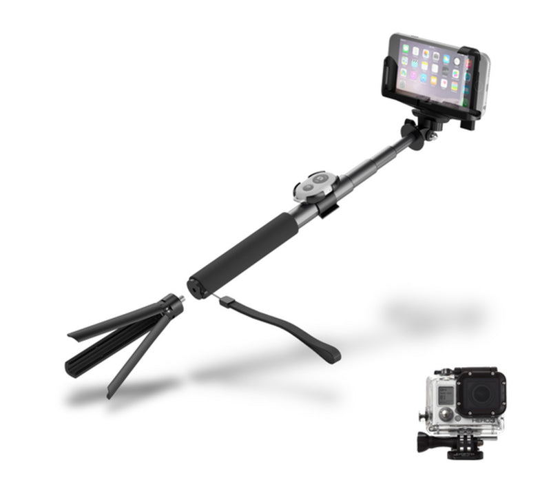 Cygnett Bluetooth Selfie Pole works with phones & GoPro