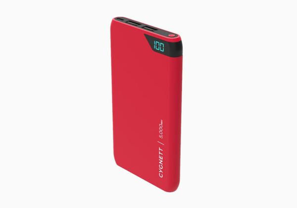 Cygnett  5,000 mAh Dual USB 2.4A Powerbank - Red
