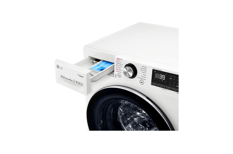 LG 8kg Front Load Washing Machine with Steam+