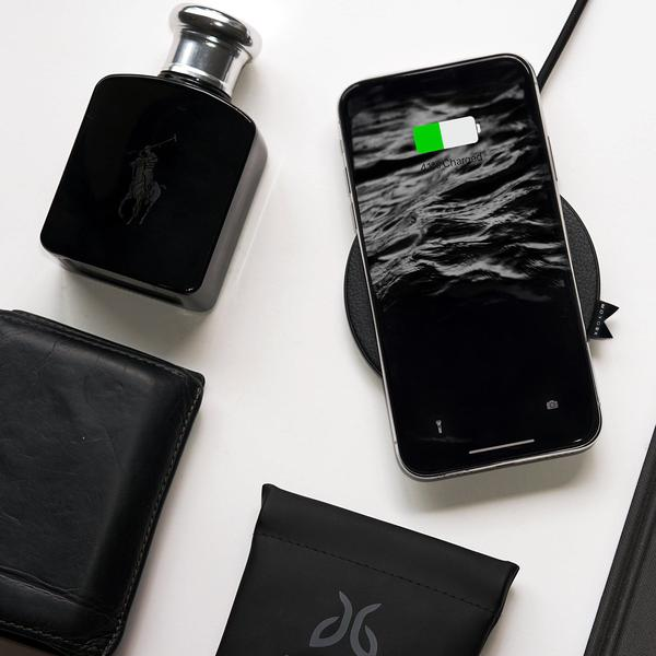 Moyork WATT 5/7.5/10W QI Wireless Charger- Raven Black Leather