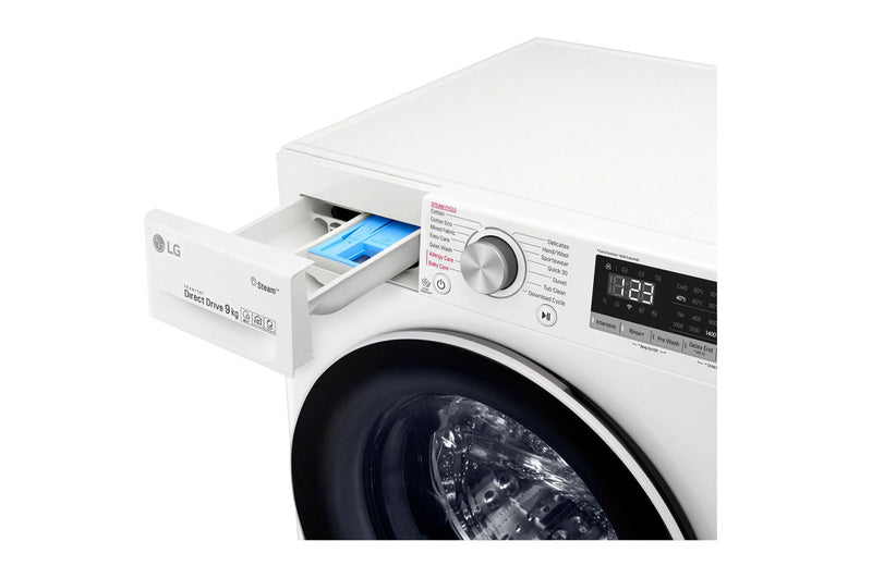 LG 9kg Front Load Washing Machine with Steam * Free Delivery *