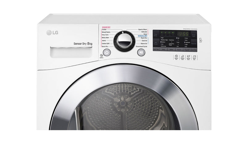 LG 8kg Condensing Dryer in White Finish with Tag On function * Free Delivery Nationwide * Price Matched