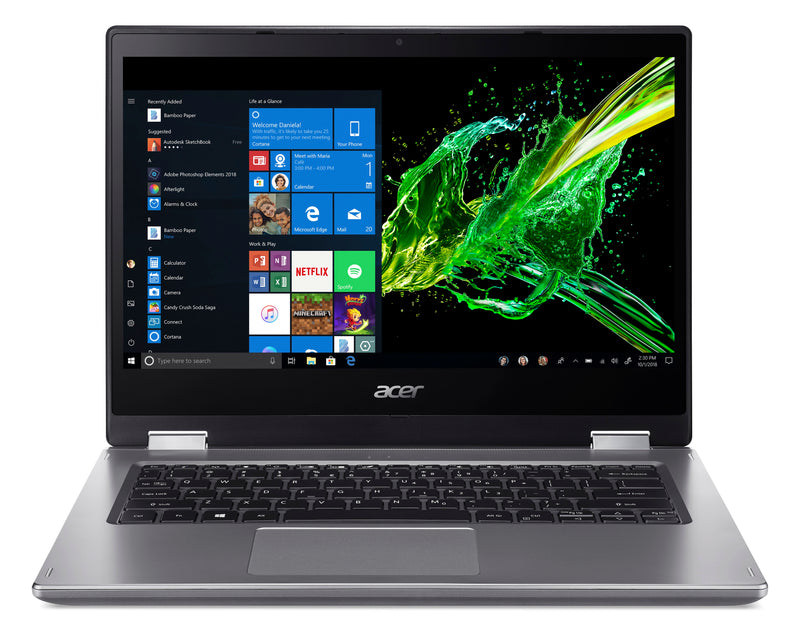 "ACER SPIN3 INTEL I7-8565U 4.6GHZ 14""FHD 1920x1080 IPS TOUCH LCD 4GB DDR4 1TB HDD NOP WIN10 HOME 1YR WAR"