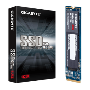 GIGABYTE NVMe SSD 512GB, GP-GSM2NE3512GNTD, Read Speed up to 1700 MB/s, Write speed up to 1550 MB/s