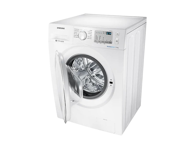 Samsung 7.5kg Front Load Washing Machine in White