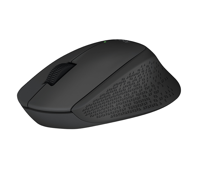 Logitech M280 USB Wireless Full Size Mouse - Black
