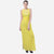 Yellow Embellished Empire Long Dress
