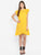 Wrap Frill Yellow Schiffli Dress