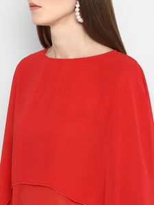 Full Sleeve Round Neck Layered Top