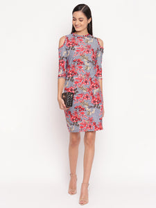 Floral Print Sheath Dress