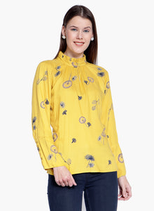 Yellow Printed top