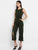 Olive Sleeveless Button Jumpsuit
