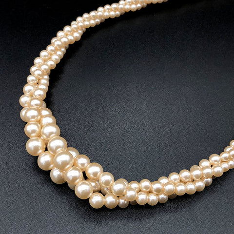【USA輸入】ヴィンテージ ネイピア ツイスト パール ネックレス/Vintage Napier Twisted Pearl Necklace