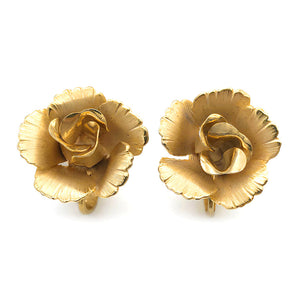【USA輸入】ヴィンテージ リスナー ローズ イヤリング/Vintage LISNER Rose Clip On Earrings