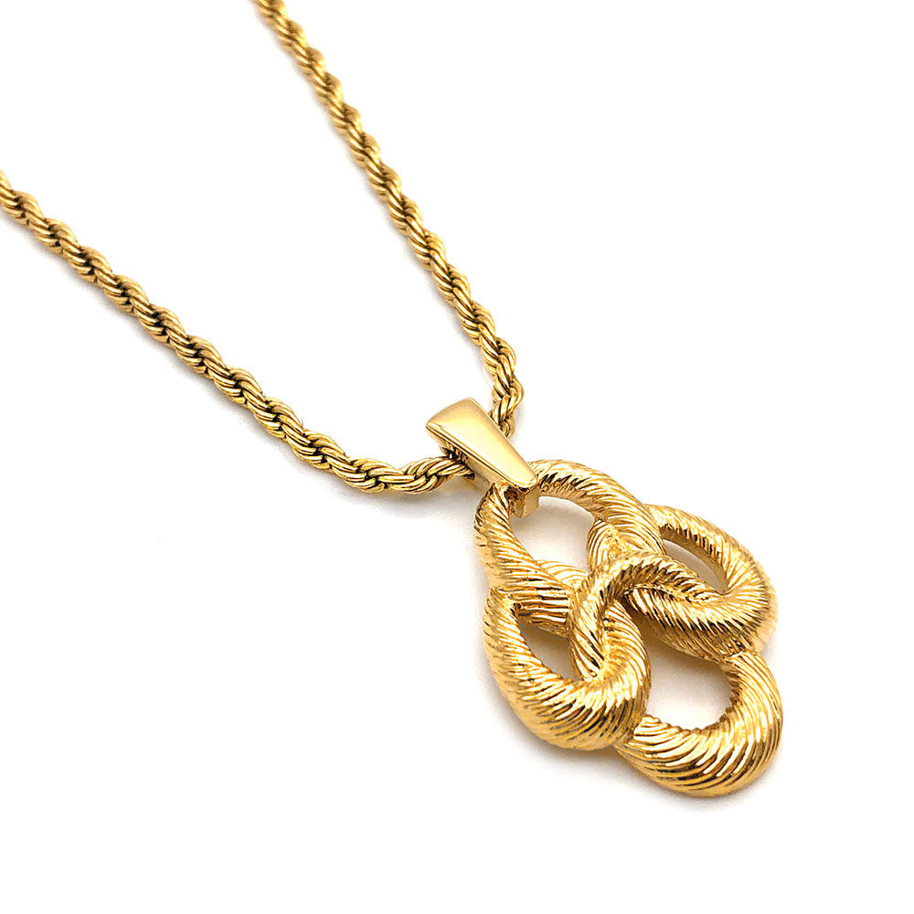 【USA輸入】ヴィンテージ トリファリ ロープ ネックレス/Vintage TRIFARI Rope Necklace
