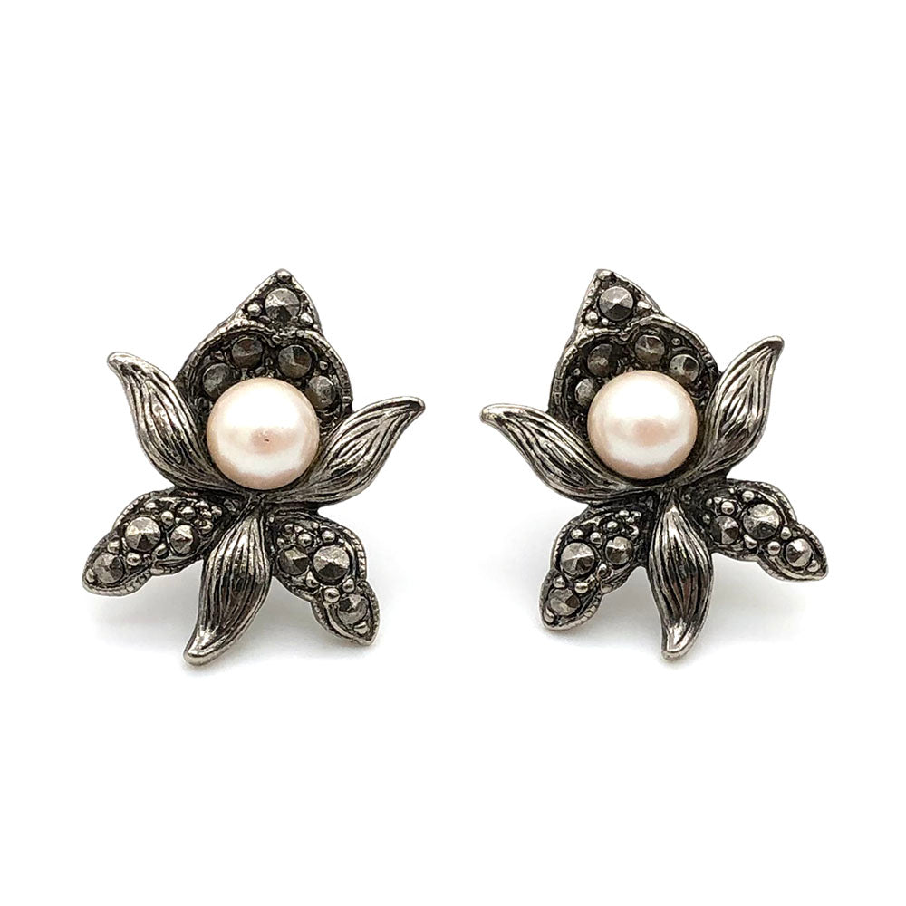 【SGP輸入】ヴィンテージ エイボン オーキッド パール ピアス/Vintage AVON Orchid Pearl Post Earrings