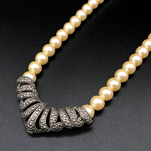 【USA輸入】ヴィンテージ エイボン パール ネックレス/Vintage AVON Pearl Necklace