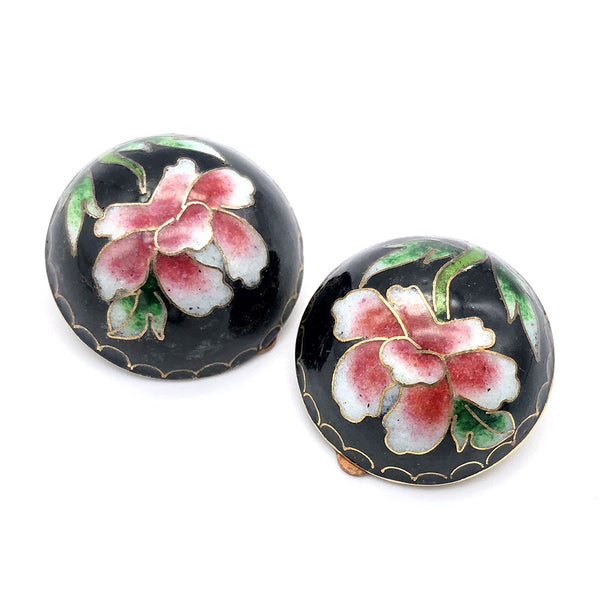 【USA輸入】ヴィンテージ ペオニー イヤリング/Vintage Peony Clip On Earrings