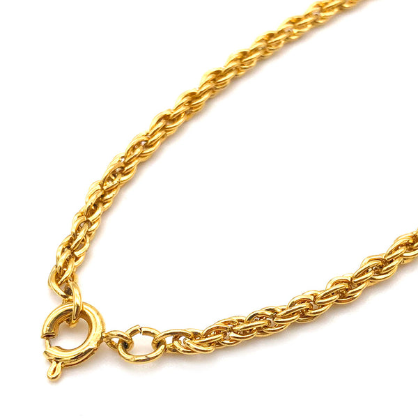 【USA輸入】ヴィンテージ クラウン トリファリ ロングネックレス/Vintage Crown TRIFARI Long Necklace