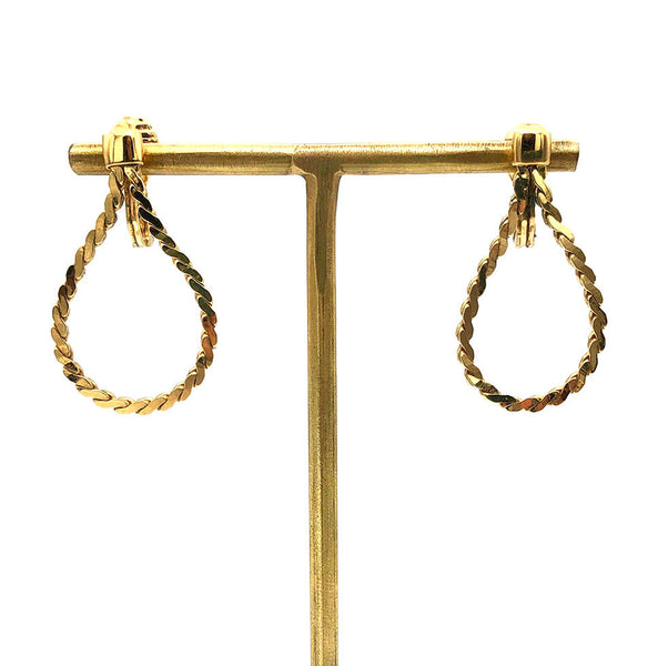 【USA輸入】ヴィンテージ モネ ゴールドチェーン イヤリング/Vintage MONET Gold Chain Clip On Earrings