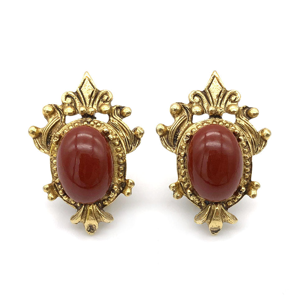 【USA輸入】ヴィンテージ フロレンザ イヤリング/Vintage FLORENZA Clip On Earrings