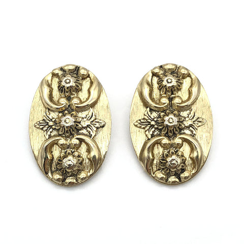【USA輸入】ヴィンテージ ホワイティング&デイビス フラワー イヤリング/Vintage WHITING & DAVIS Clip On Earrings