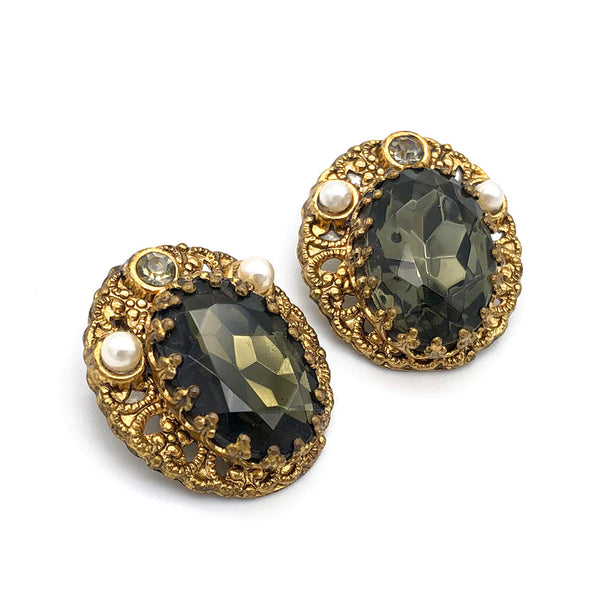 【USA輸入】ヴィンテージ 西ドイツ製 イヤリング/Vintage W.GERMANY Clip On Earrings