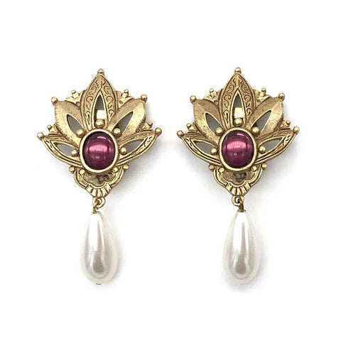 【LA買付】ヴィンテージ ヴィクトリアン パール イヤリング/Vintage Victorian Clip On Earrings