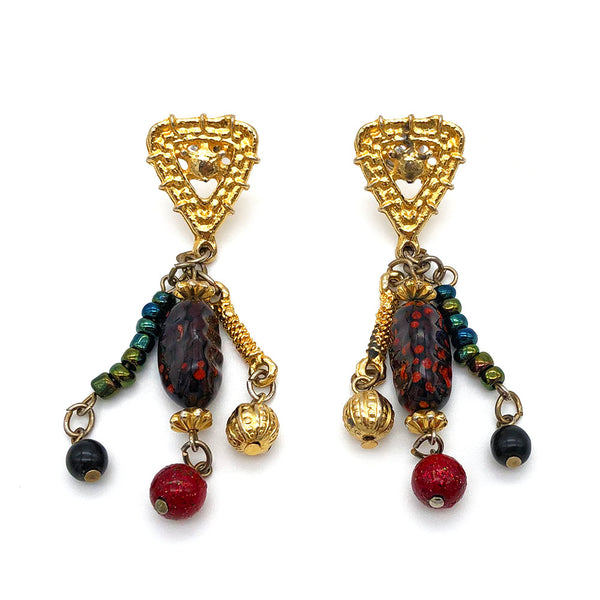 【LA買付】ヴィンテージ ビーズ ピアス/Vintage Beads Post Earrings