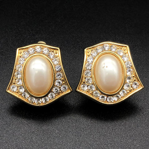 【USA輸入】ヴィンテージ アーウィン・パール イヤリング/Vintage E.PEARL Clip On Earrings
