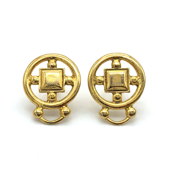 【LA買付】ヴィンテージ ゴールド コイン ピアス/Vintage Gold Coin Post Earrings