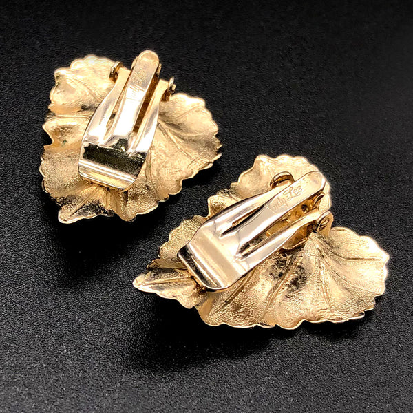 【USA輸入】ヴィンテージ ジュディ・リー リーフ イヤリング/Vintage JUDY LEE Leaf Clip On Earrings