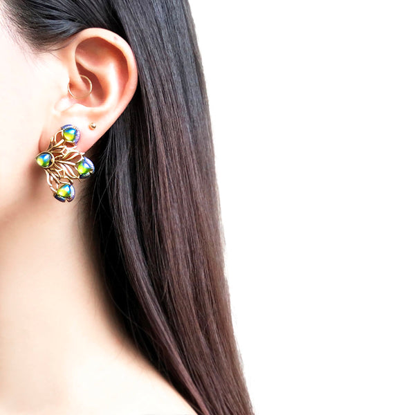 【USA輸入】(片耳用)ヴィンテージ ピーコック イヤリング/(For One Ear)Vintage Peacock Clip On Earrings