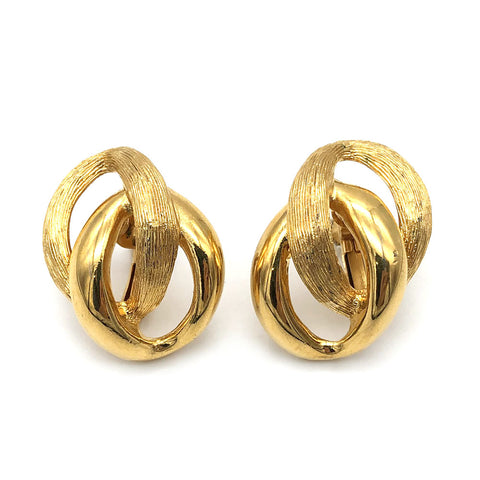 【USA輸入】ヴィンテージ ネイピア ゴールド イヤリング/Vintage NAPIER Gold Clip On Earrings