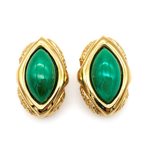 【USA輸入】ヴィンテージ アリス・キャヴィネス グリーン イヤリング/Vintage ALICE CAVINESS Green Clip On Earrings