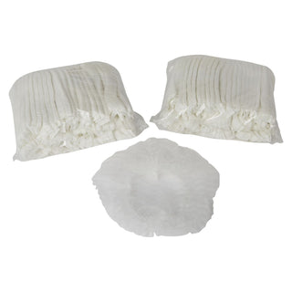 Disposable Non- Woven / Bouffant Caps - White - 100pc x 2 Pack