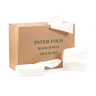 Interfold Tissue Paper - 150pc x 20 Packets