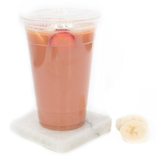 Cosmoplast Juice Cup Clear Medium (Without Lids) - 90mm - 14 oz. - 50pc x 2 Pack