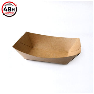 Meal Tray Kraft - X-Large - 22x14x5.5(cm) 500 Pcs