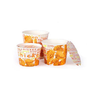 Chicken Bucket with Lid - 130 oz- 100pcs