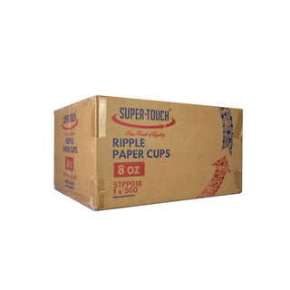 Super Touch Paper Cup Rippled(Printed)- 8 oz.  - 500pc